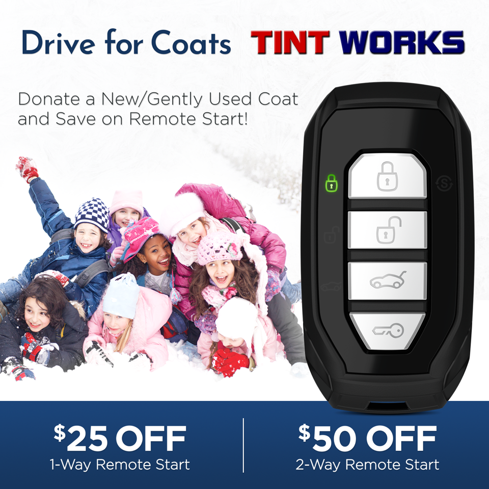 Tint Works Partners With Compustar to Provide Coats for Kids - Remote Starts in Columbus, Ohio